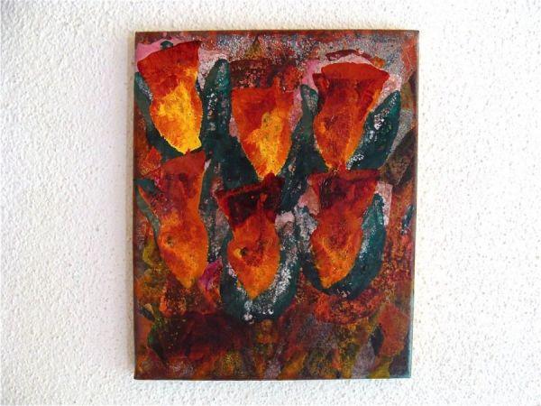 colorcomb  2014  oil paints on canvas  30x24x2 cm