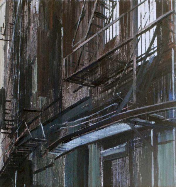Tribeca 50 x 50 cm Öl auf Lwd.  2009