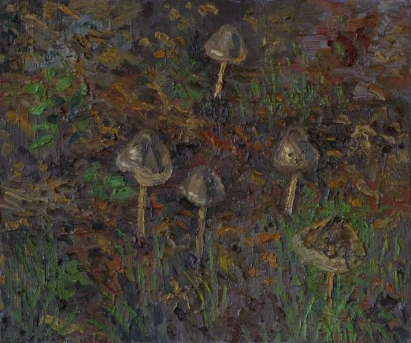 Pilze 17.11.2008 46 x 55 cm Öl/Lwd. 2008