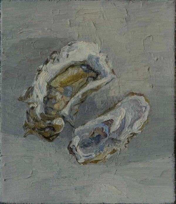 Auster, 1.8.95 35 x 30 cm Öl/Lwd. 1995
