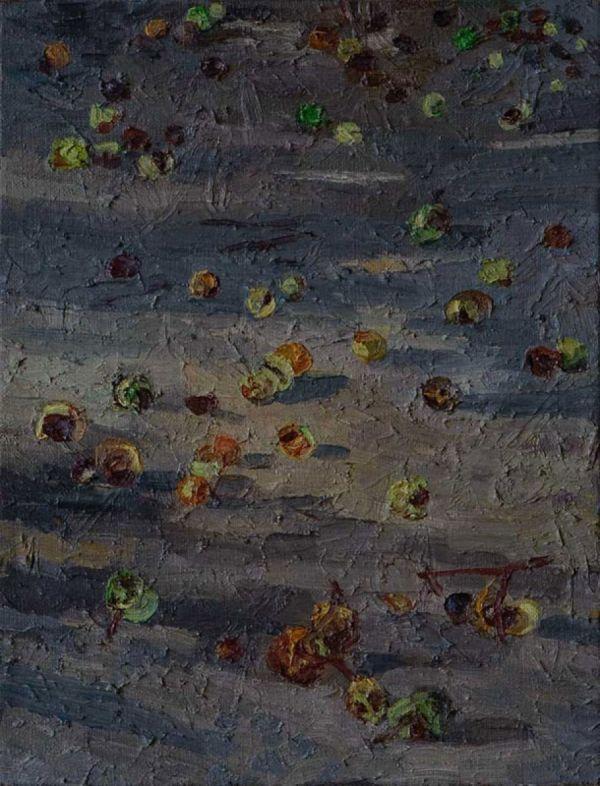 Kastanien, 29.9.04 35 x 27 cm 2004