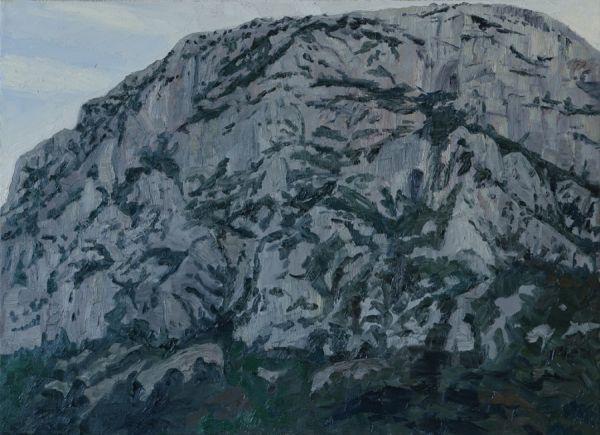 Pic St. Loup 3.2.95 81 x 110 cm Öl/Lwd. 1995