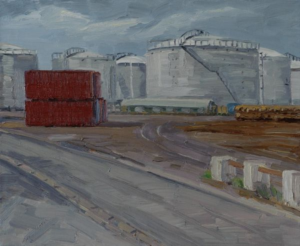 Sète, Silo, 1.7.97 38 x 46 cm Öl/Lwd. 1997