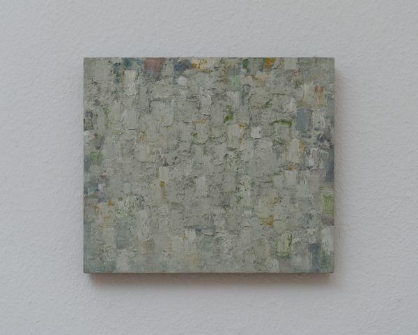 Grau/Grün 31 x 36 cm Ölfarbe auf Schichtholz 2008 Foto: Marc Doradzillo