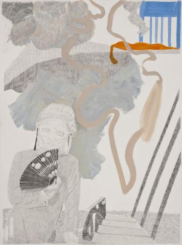 Glamour 76 x 56 cm Bleistift, Gouache auf Papier 2010