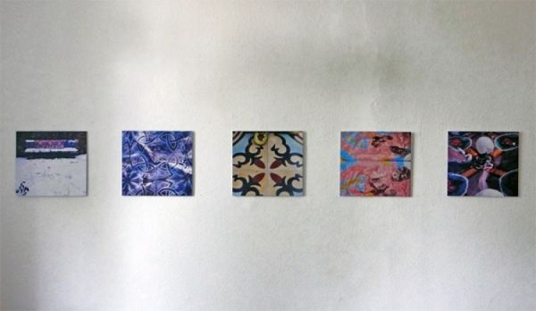 Bilder von mexikanischen Zementfußböden in meinem Garten 2009 30 x 32,5 cm digital-print auf AluDibond kaschiert