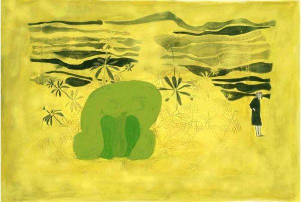 o.T. Mischtechnik auf Papier 98 x 147 cm 2006