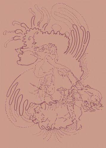 Galatea porcus 70x50 cm digitaler Siebdruck auf Plexiglas 2016