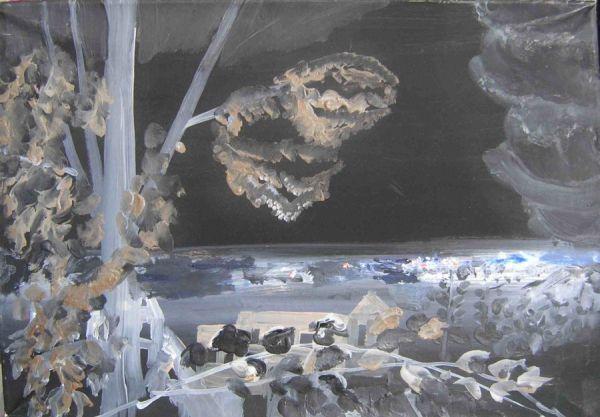 Blick auf die Stadt  Öl auf Leinwand  31 x 45 cm  2008