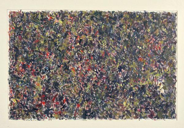 o.T. 31,5 x 48 cm Öl auf Papier 1962