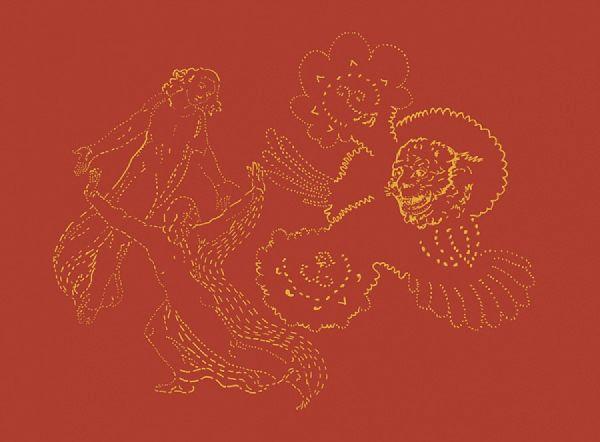 duo inferno leone I 35 x 46 cm digitaler Siebdruck auf Plexiglas 2017