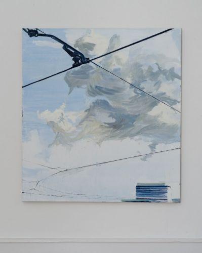 Blue sky painting 120 x 110 cm Öl auf Lwd. 2011