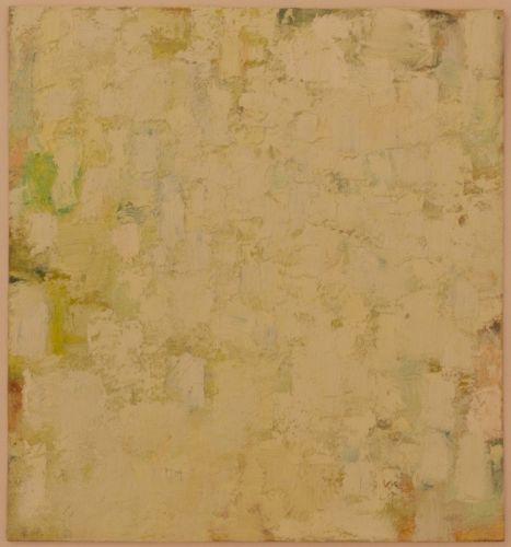 Studie 27 x 25 cm Leinöl/Ölfarbe auf Fließkarton 2009