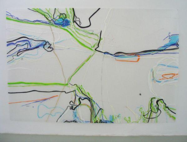 o.T. 200x300cm Acryl/Pigment/Marker/Luftpolsterfolie 2006