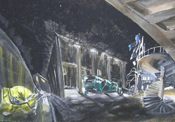 Das Konzerthaus 2004 Öl auf Lwd. 63 x 90 cm                Fotos: Jürgen Giersch