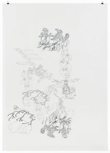 Lizard and ladder go madder, 2014, 158 x 112,5 cm, Filzstift/PET-Folie