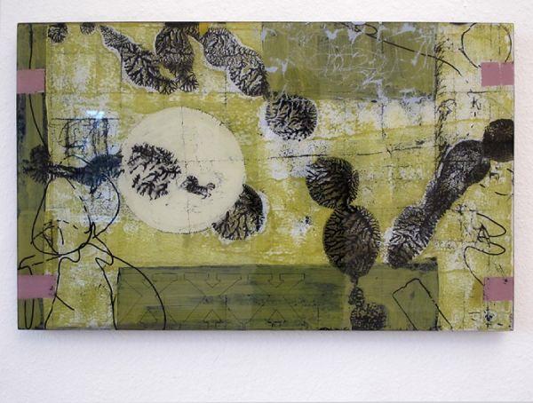 o.T. Malerei/Hinterglasmalerei/Holzwerkstoff  50x80 cm  2013  Foto: Carlos Matter